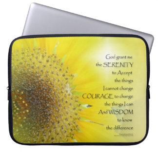 Serenity Prayer Sunflower Glow Laptop Sleeves