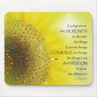 Serenity Prayer Sunflower Glow Mouse Pad