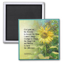 Serenity Prayer Sunflower Magnet