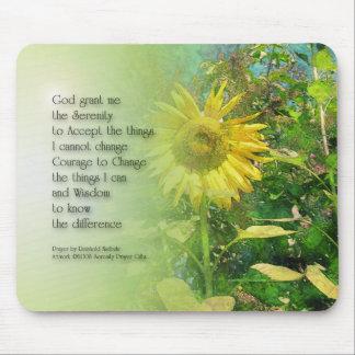Serenity Prayer Sunflower Mouse Pad
