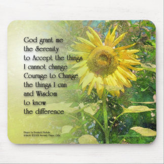 Serenity Prayer Sunflower Mouse Pad