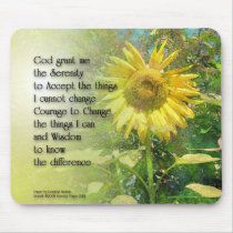 Serenity Prayer Sunflower Mousepad