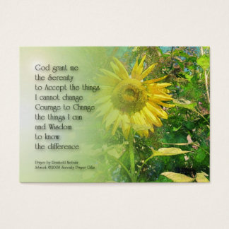 Serenity Prayer Sunflower Profile Card