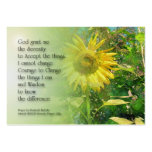 Serenity Prayer Sunflower Profile Card Large Business Cards (Pack Of 100)
