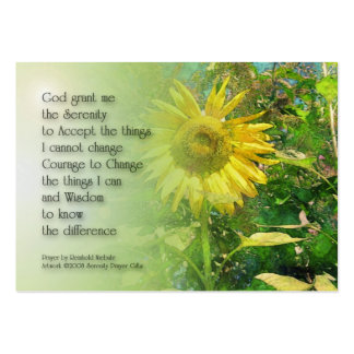 Serenity Prayer Sunflower Profile Card Business Cards
