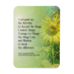 Serenity Prayer Sunflower Rectangular Magnets