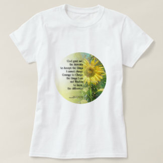 Serenity Prayer Sunflower T-Shirt