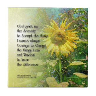 Serenity Prayer Sunflower Tile