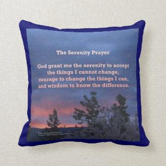 Serenity Prayer Sunrise Blue Pink American MoJo Pi Throw Pillows