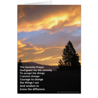 Serenity Prayer Sunrise Card