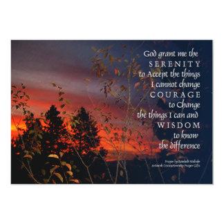Serenity Prayer Sunrise Invitation