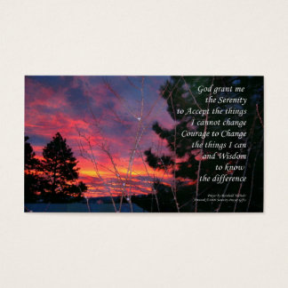 Serenity Prayer Sunrise ODAT Wallet Card