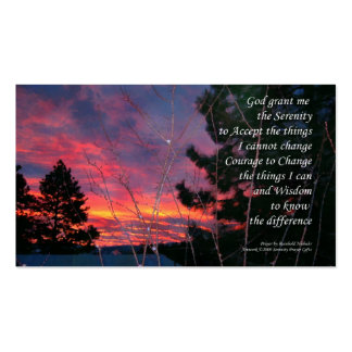 Serenity Prayer Sunrise ODAT Wallet Card Business Card