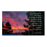 Serenity Prayer Sunrise ODAT Wallet Card Double-Sided Standard Business Cards (Pack Of 100)