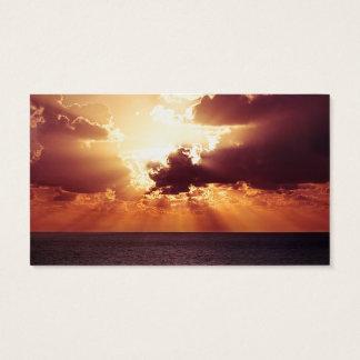 Serenity Prayer Sunrise on the Ocean Business Card
