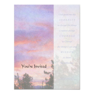 Serenity Prayer Sunrise Panels Invitation