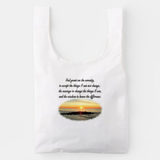 SERENITY PRAYER SUNRISE PHOTO DESIGN REUSABLE BAG