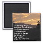 Serenity Prayer Sunrise Square Magnet