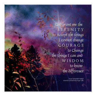 Serenity Prayer Sunrise Vivid Print