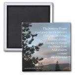 Serenity Prayer Sunset 2 Inch Square Magnet