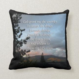 Serenity Prayer Sunset American MoJo Pillow