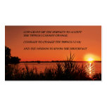 Serenity Prayer Sunset Double-Sided Standard Business Cards (Pack Of 100)