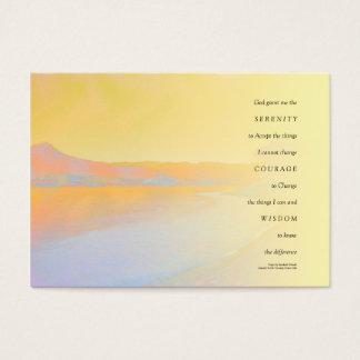 Serenity Prayer Sunset Lake Business Card