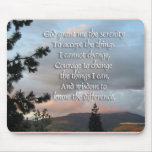 Serenity Prayer Sunset Mouse Pad