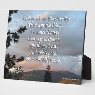 Serenity Prayer Sunset Plaque