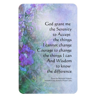 Serenity Prayer Sweet Peas and Fence Magnet