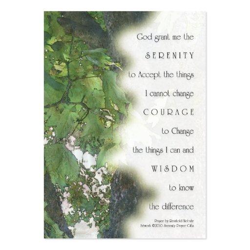 Serenity Prayer Sycamore Business Card