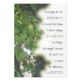 Serenity Prayer Sycamore Business Card