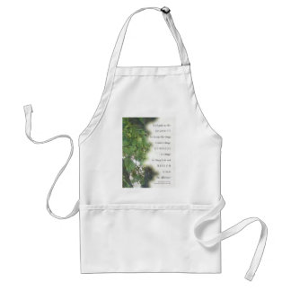 Serenity Prayer Sycamore Leaves Adult Apron