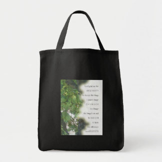 Serenity Prayer Sycamore Leaves Grocery Tote Bag