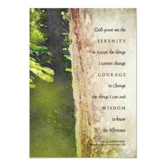 Serenity Prayer Sycamore Tree Invitation