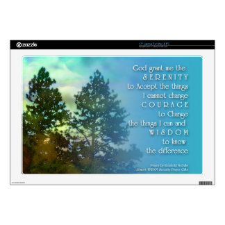 "Serenity Prayer Tall Tree Decals For 17"" Laptops"