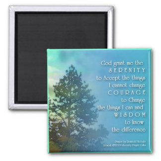 Serenity Prayer Tall Tree Magnet