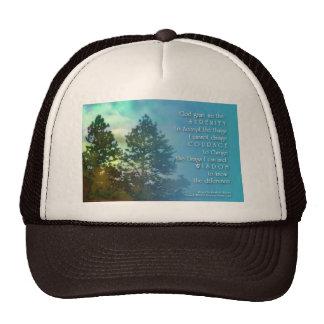 Serenity Prayer Tall Tree Trucker Hat
