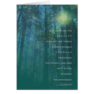 Serenity Prayer Tall Trees Card