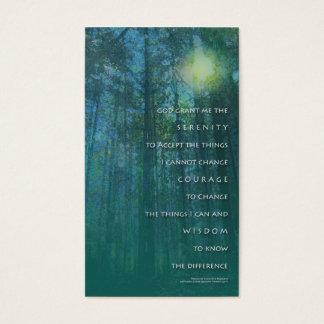 Serenity Prayer Tall Trees Profile Card