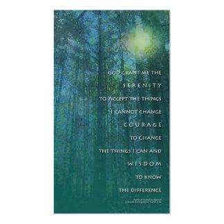 Serenity Prayer Tall Trees Profile Card Business Card Template