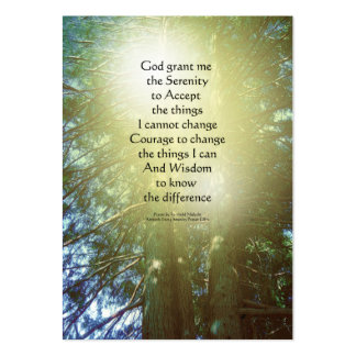 Serenity Prayer Tall Trees Two Large Business Cards (Pack Of 100)