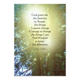 Serenity Prayer Tall Trees Two 5x7 Paper Invitation Card