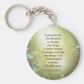 Serenity Prayer Tall Trees Two Key Chains