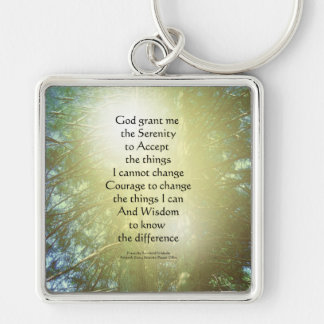 Serenity Prayer Tall Trees Two Keychains