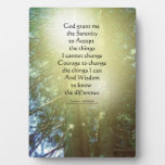 Serenity Prayer Tall Trees Two Plaque