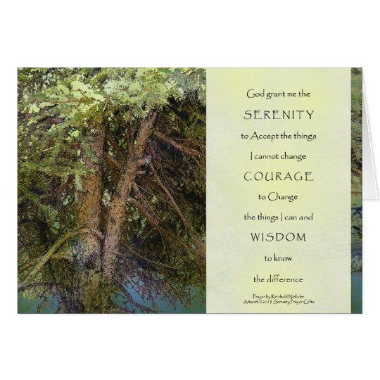 Serenity Prayer Tangled Trees Card