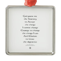 Serenity Prayer Tiny Ornament Celtic