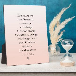 Serenity Prayer Tiny Ornament Celtic Plaque