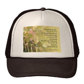 Serenity Prayer Tiny Roses and Fence Trucker Hat